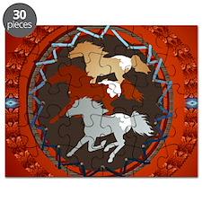 Horse and Shield-circle Puzzle