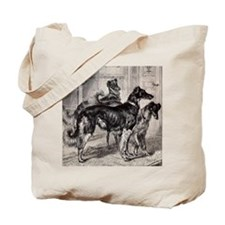 3-Borzoi In Library Tote Bag