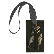 Deco Lady And Dog_edited-2 Luggage Tag