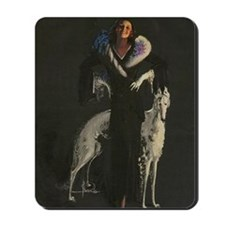 Deco Lady And Dog_edited-2 Mousepad