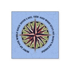 """compass-rose3-BUT Square Sticker 3"""" x 3"""""""