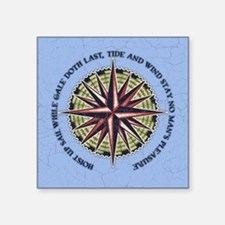 "compass-rose3-BUT Square Sticker 3"" x 3"""