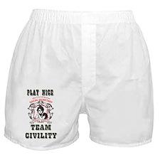 team civility logo copy Boxer Shorts