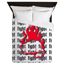 flamingfist4 Queen Duvet