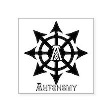 "chaos autonomy celtic Square Sticker 3"" x 3"""