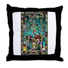 Lord Pacal the Rocket Man Throw Pillow