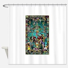 Lord Pacal the Rocket Man Shower Curtain
