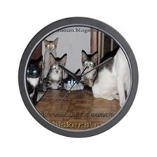 whiskers syndicate4 Wall Clock