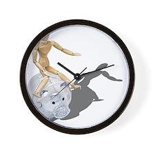 RidingWildHog092110 Wall Clock
