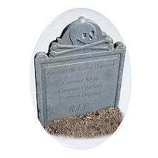 Cutoutltombstone Oval Ornament