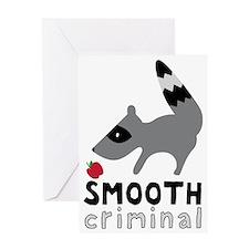 Smooth Criminal Raccoon Greeting Card