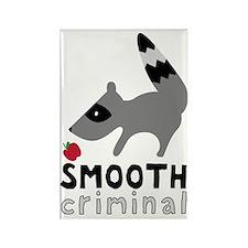 Smooth Criminal Raccoon Rectangle Magnet