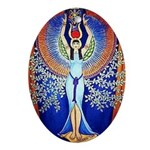 Egyptian Goddess Isis Ornament (Oval)
