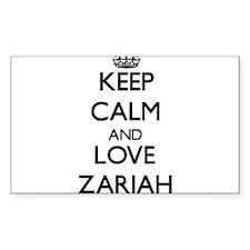 Keep Calm and Love Zariah Decal