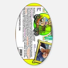 bicycle-book-back-vert Sticker (Oval)