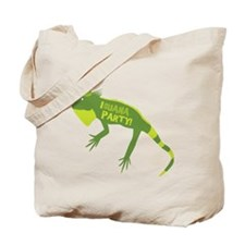 Iguana Party Tote Bag