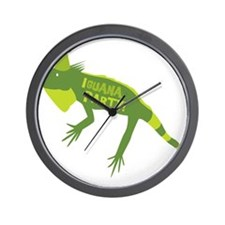 Iguana Party Wall Clock