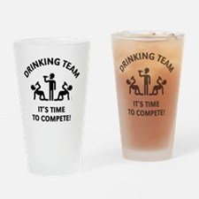 Drinking Team – It's Time To Compet Drinking Glass