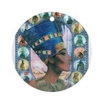 Queen of Egypt Nefertiti Ornament (Round)