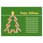 Bacon Christmas Tree 5x7 Flat Cards