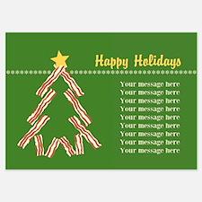 Bacon Christmas Tree Invitations
