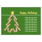 Bacon Christmas Tree 3.5 x 5 Flat Cards