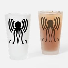 hp-podcast-black Drinking Glass