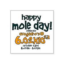 """happy mole day Square Sticker 3"""" x 3"""""""
