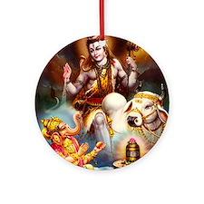 LORD SHIVA SHIV SHANKAR GANESHA Ornament (Round)