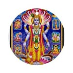 LORD VISHNU SATYANARAYAN AVATARS Ornament (Round)