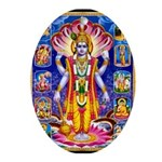 LORD VISHNU SATYANARAYAN AVATARS Ornament (Oval)