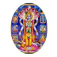 LORD VISHNU SATYANARAYAN AVATARS Ornament (Oval)