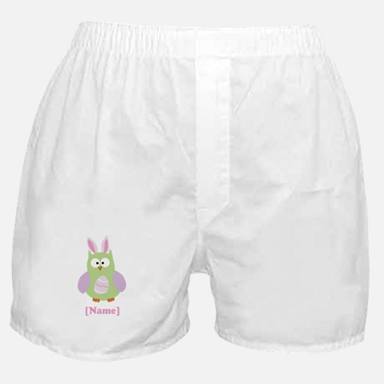 Personalized Easter Owl Boxer Shorts