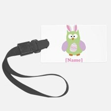 Personalized Easter Owl Luggage Tag