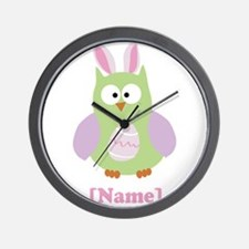 Personalized Easter Owl Wall Clock