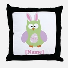 Personalized Easter Owl Throw Pillow