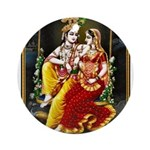 LORD KRISHNA RADHA Ornament (Round)