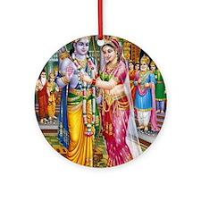 Lord Ram Seeta Swayamwar Ornament (Round)