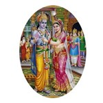 Lord Ram Seeta Swayamwar Ornament (Oval)