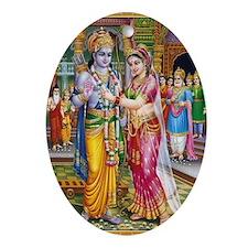 Lord Ram Seeta Swayamwar Ornament (Oval)