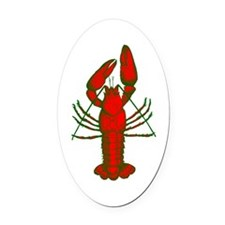 crawfish Oval Car Magnet