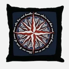 compass-rose4-CRD Throw Pillow