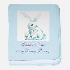 Personalize Honey Bunny baby blanket