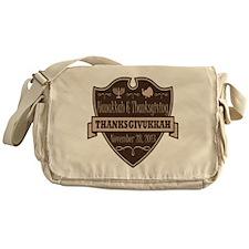 Brown Thanksgivukkah Messenger Bag