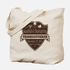 Brown Thanksgivukkah Tote Bag