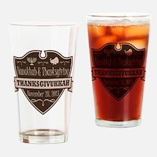 Brown Thanksgivukkah Drinking Glass
