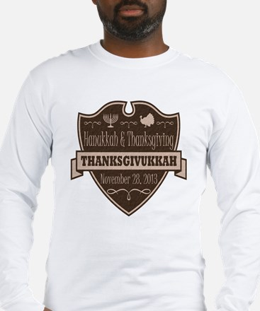 Brown Thanksgivukkah Long Sleeve T-Shirt