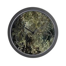 Abstract Metals_11x11_pillow Wall Clock