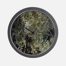 Abstract Metals_11x11_pillow Wall Clock