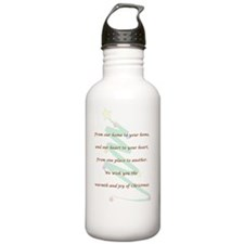 Christmas Card Water Bottle